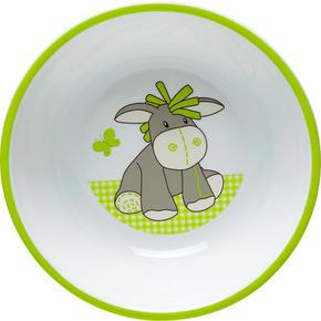 BARNSKÅL - vit/grön, Trend, plast (14/3,8cm) - My Baby Lou