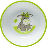 DĚTSKÁ MISKA - bílá/zelená, Trend, umělá hmota (14/3,8cm) - My Baby Lou