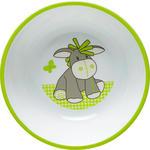 KINDERSCHÜSSEL  - Weiß/Grün, Basics, Kunststoff (14/3,8cm) - My Baby Lou