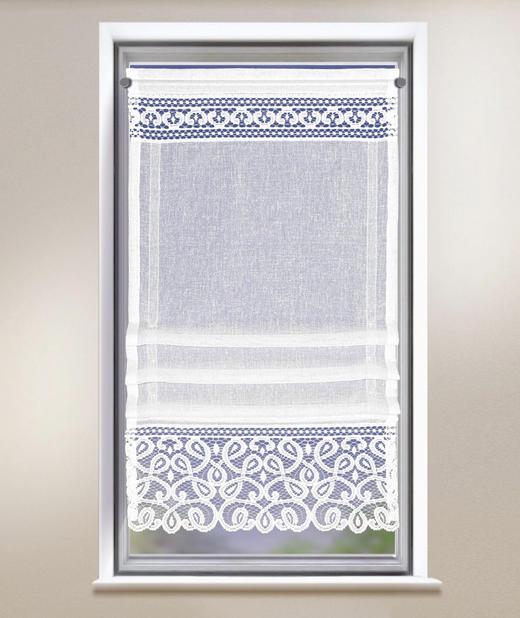 FERTIGVORHANG  halbtransparent - Weiß, Textil (50/120cm)