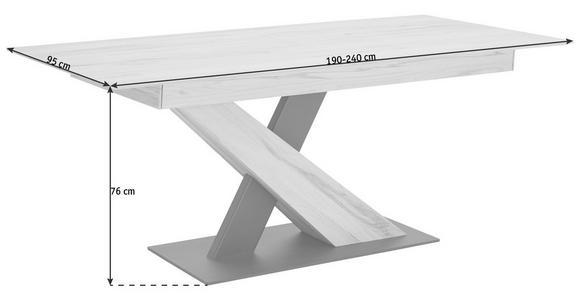 ESSTISCH in Holz, Metall 190/95/76 cm - Anthrazit/Buchefarben, Natur, Holz/Metall (190/95/76cm) - Valnatura