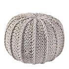POUF Textilgeflecht Naturfarben - Naturfarben, Design, Textil (50/35/50cm) - CARRYHOME