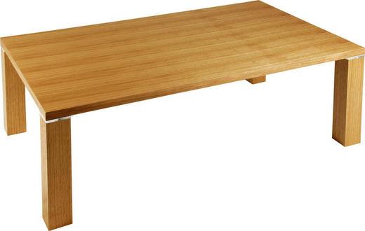 COUCHTISCH Eiche furniert rechteckig Eichefarben - Eichefarben, Design, Holz/Kunststoff (96/60/43cm) - Venda