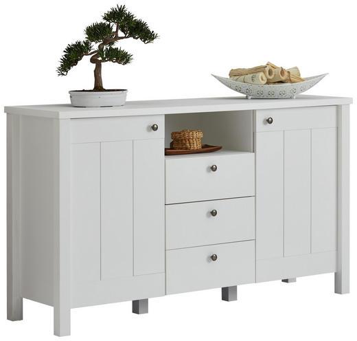 SIDEBOARD foliert, matt Weiß - Weiß/Bronzefarben, LIFESTYLE, Holzwerkstoff/Metall (157/90/44cm) - Carryhome