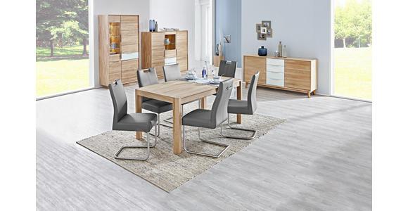 SCHWINGSTUHL Lederlook Edelstahlfarben, Grau - Edelstahlfarben/Grau, Design, Textil/Metall (46/97/59cm) - Valnatura