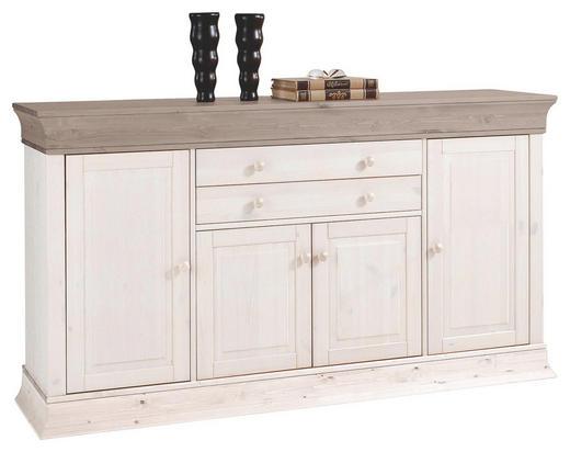 SIDEBOARD Kiefer massiv lackiert Grau, Weiß - Weiß/Grau, Design, Holz (181/100/45cm) - CARRYHOME