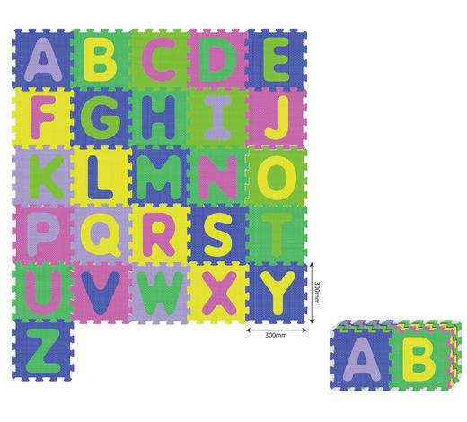 PĚNOVÉ PUZZLE - modrá/růžová, Basics, umělá hmota (180/150cm) - My Baby Lou