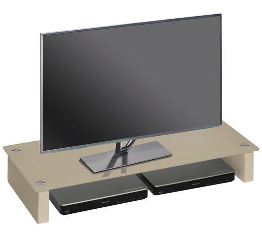 TV-AUFSATZ in Sandfarben - Sandfarben, Basics, Glas/Holzwerkstoff (82/12,2/35cm)