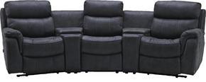 RECLINERSOFFA - ljusgrå/grå, Klassisk, metall/trä (320/104/145cm) - Low Price