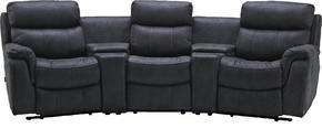 RECLINERSOFFA - ljusgrå/grå, Klassisk, metall/trä (320/104/145cm) - Low Price