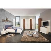 LOŽNICE, barvy ořechu, bílá - bílá/barvy ořechu, Design, dřevo/dřevěný materiál (180/200cm) - Ambiente by Hülsta