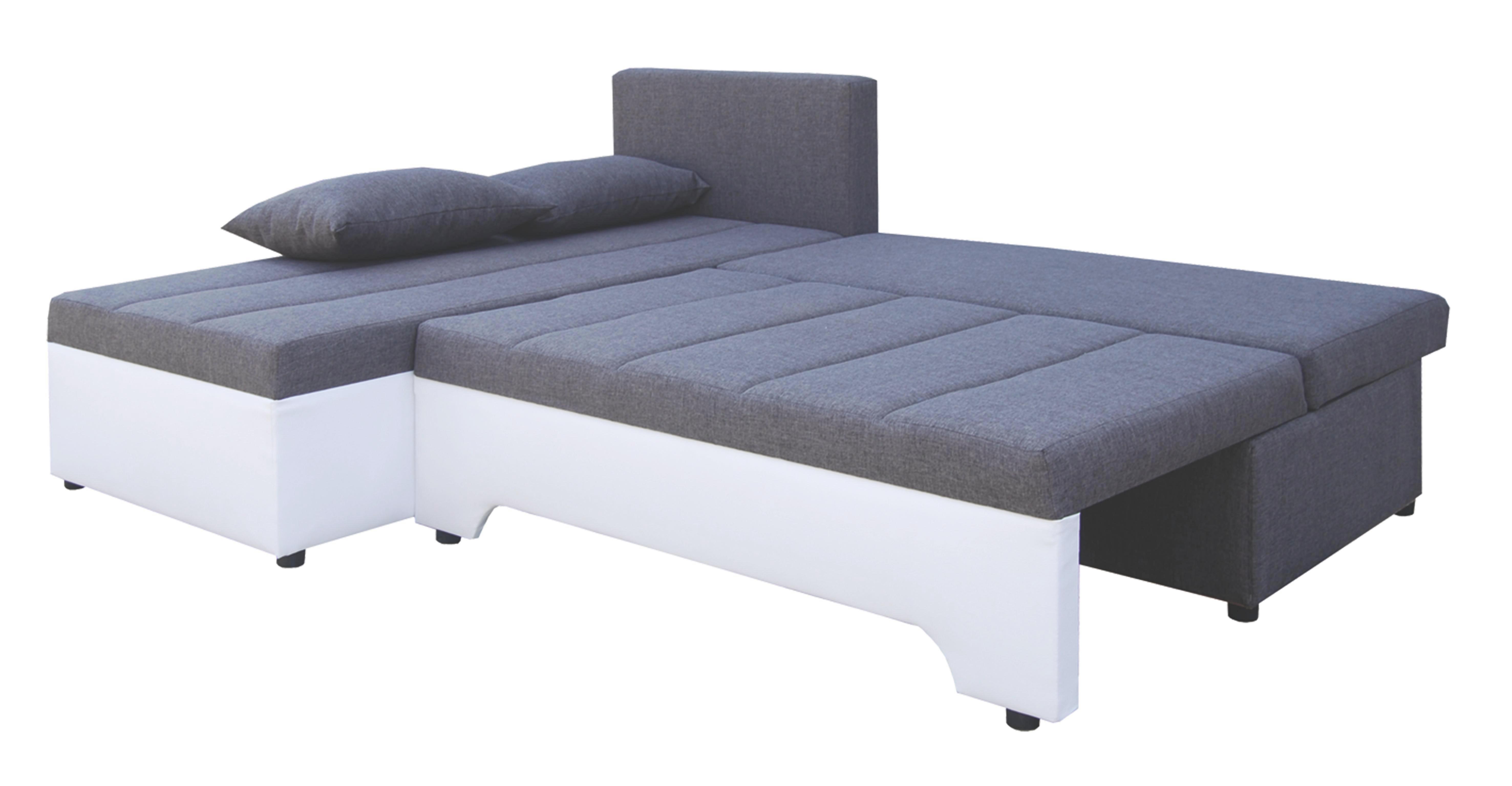 SEDEŽNA GARNITURA - siva/bela, Design, tekstil/les (200/160cm) - BOXXX