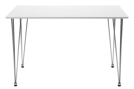 MATBORD - vit/kromfärg, Design, träbaserade material (120/76/73cm) - Low Price
