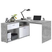 KOTNA PISALNA MIZA - siva/bela, Design, umetna masa/leseni material (138/75/67,5cm) - CANTUS