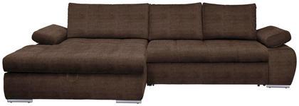 WOHNLANDSCHAFT in Textil Hellbraun  - Chromfarben/Hellbraun, Design, Kunststoff/Textil (173/294cm) - Carryhome