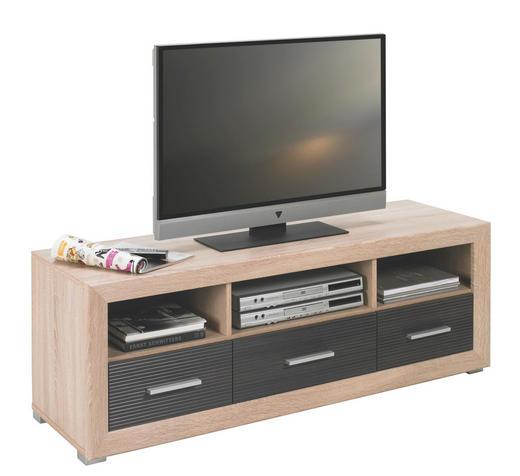 LOWBOARD Eichefarben, Pinienfarben - Eichefarben/Silberfarben, Design, Kunststoff (138/49/45cm) - Boxxx