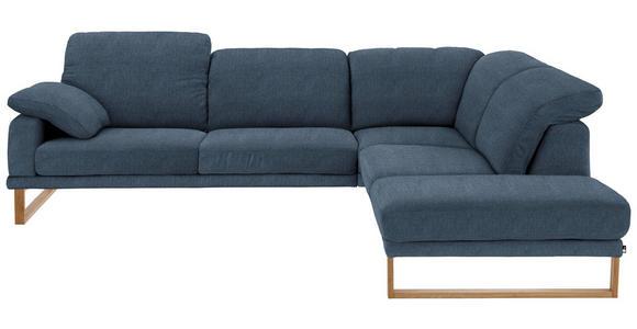 WOHNLANDSCHAFT in Textil Blau - Blau/Eichefarben, Natur, Holz/Textil (281/226cm) - Valnatura