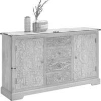 KOMODA - černá/světle šedá, Trend, kov/dřevo (145/85/40cm) - Ambia Home