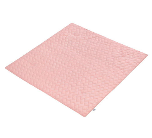 KRABBELDECKE 130/130 cm - Altrosa, Basics, Textil (130/130cm) - Zöllner