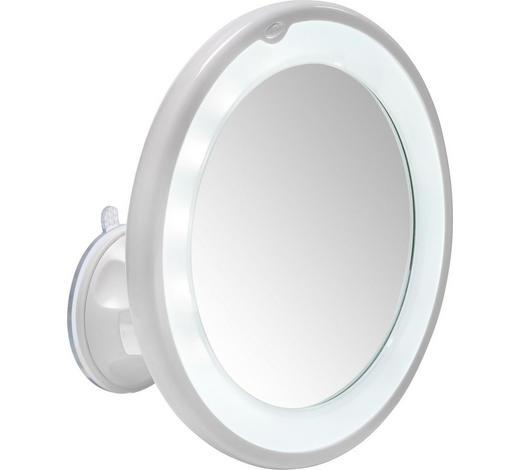 LEUCHTSPIEGEL 17,5 cm  - Weiß, Basics, Glas/Kunststoff (17,5cm) - Kleine Wolke