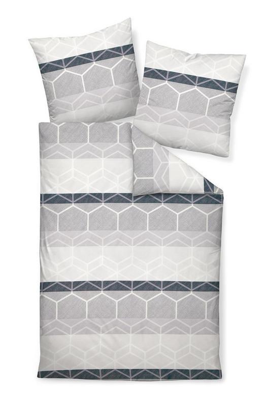 BETTWÄSCHE Makosatin Grau 155/220 cm - Grau, Basics, Textil (155/220cm) - Janine
