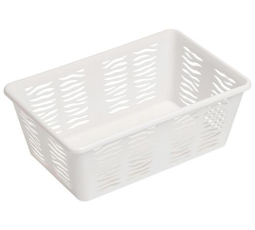KORB - Weiß, KONVENTIONELL, Kunststoff (30/11/20cm) - Plast 1