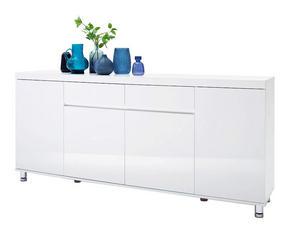 SIDEBOARD - vit/kromfärg, Design, metall/träbaserade material (190/83/40cm) - Xora