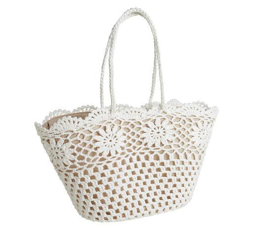 EINKAUFSTASCHE - Creme/Weiß, Trend, Textil (45/33/30cm) - Ambia Home