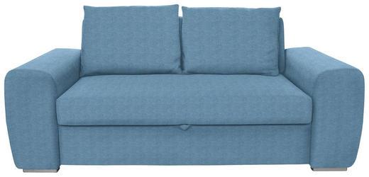 SCHLAFSOFA in Textil Hellblau - Chromfarben/Hellblau, Design, Holz/Textil (199/92/97cm) - Hom`in