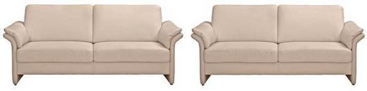 SITZGARNITUR Mikrofaser Beige - Beige/Schwarz, KONVENTIONELL, Kunststoff/Textil (192/85/89cm) - Pure Home Comfort