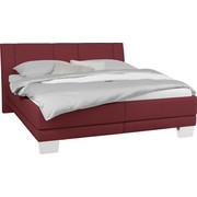 POLSTERBETT 180 cm   x 200 cm   in Textil Rot - Chromfarben/Rot, KONVENTIONELL, Holz/Kunststoff (180/200cm) - Xora