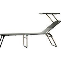 DREIBEINLIEGE Aluminium Grau, Alufarben  - Alufarben/Grau, Design, Textil/Metall (58/42/190cm) - Jan Kurtz