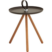 BEISTELLTISCH in Braun, Grau, Nussbaumfarben - Nussbaumfarben/Braun, Design, Holz (40/45cm) - Rolf Benz