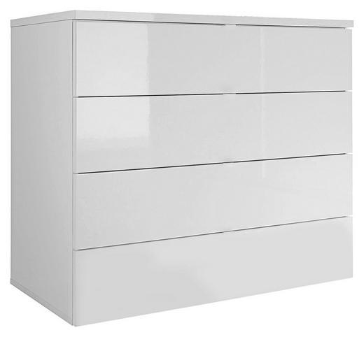 KOMMODE Weiß - Schwarz/Weiß, Design, Kunststoff/Metall (90/80/50cm) - Venda