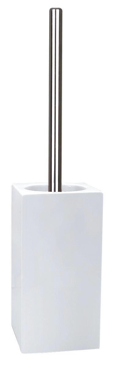 WC-BÜRSTENGARNITUR - Chromfarben/Weiß, Basics, Keramik/Kunststoff (11,5/45cm) - SPIRELLA