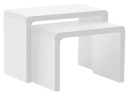 BEISTELLTISCH rechteckig Weiß - Weiß, Design, Holzwerkstoff (59/41/30cm) - Carryhome