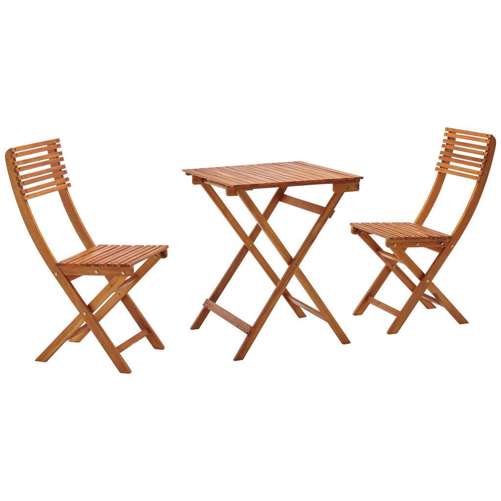 Balkonset mit klappbaren Stühlen