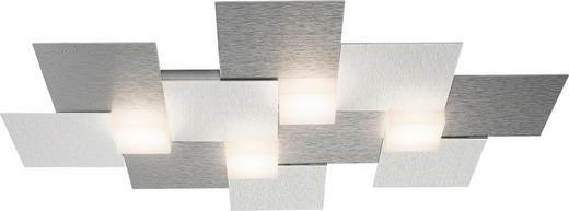 LED-DECKENLEUCHTE - Alufarben, Design, Metall (55/38,5/5,2cm) - Großmann