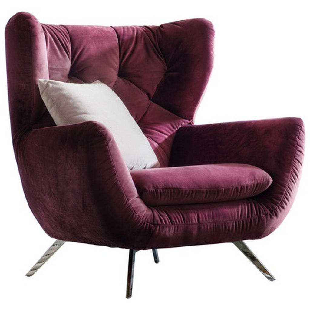 Pure Home Lifestyle CHESTERFIELD-SESSEL Velours Lila