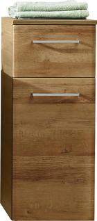 SPODNJA OMARICA - hrast/krom, Konvencionalno, steklo/leseni material (30/72/33cm) - Xora