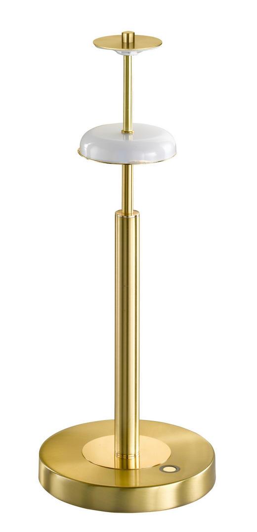 LED-TISCHLEUCHTE - Messingfarben, Design, Metall (18/45cm)