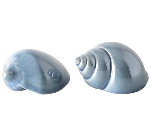 DEKOMUSCHEL - Hellblau, Trend, Keramik (7,5/4,5/4cm)