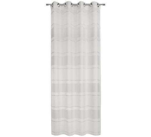 ÖSENVORHANG halbtransparent - Weiß, KONVENTIONELL, Textil (135/245cm) - Esposa