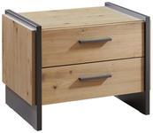 NACHTKÄSTCHEN in Grau, Eichefarben  - Eichefarben/Grau, Design, Holzwerkstoff/Kunststoff (57/45/41cm) - Hom`in
