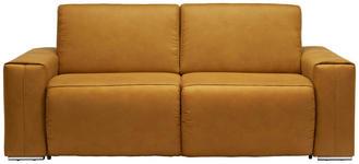 SCHLAFSOFA in Textil Gelb, Chromfarben  - Chromfarben/Gelb, Design, Textil/Metall (210/90/102cm) - Dieter Knoll