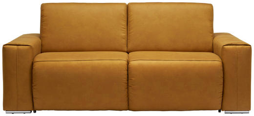 SCHLAFSOFA Chromfarben, Gelb - Chromfarben/Gelb, Design, Textil/Metall (210/90/102cm) - Dieter Knoll