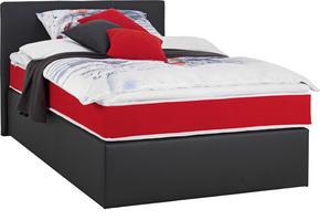 Kontinentalsäng - röd/svart, Design, textil/plast (120/200cm) - Low Price