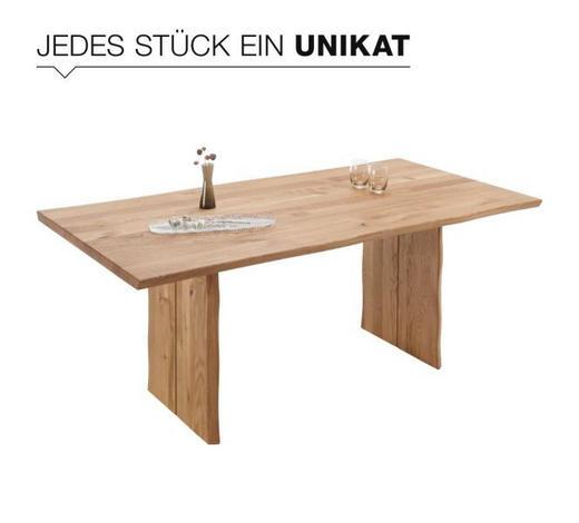ESSTISCH Wildeiche massiv rechteckig Eichefarben  - Eichefarben, Design, Holz (180/90/75cm) - Linea Natura