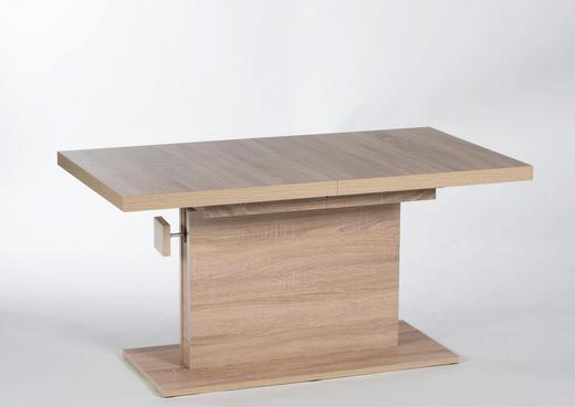 Couchtisch mit Funktion rechteckig Eichefarben - Eichefarben, Design (120-160/60/59-75cm) - Carryhome