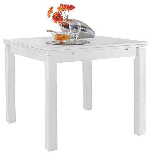 ESSTISCH Buche furniert quadratisch Weiß - Weiß, KONVENTIONELL, Holz (80(140)/80/76cm) - Valdera